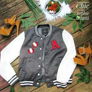 Athletic Wear Jacket Coat White Gray